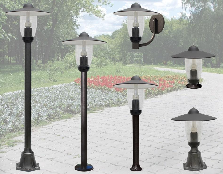 Пример опор для светильников