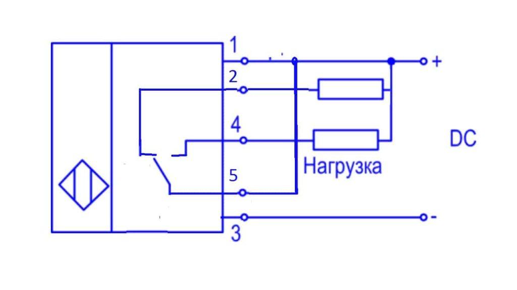 Схема подключения пятипроводного датчика индуктивности