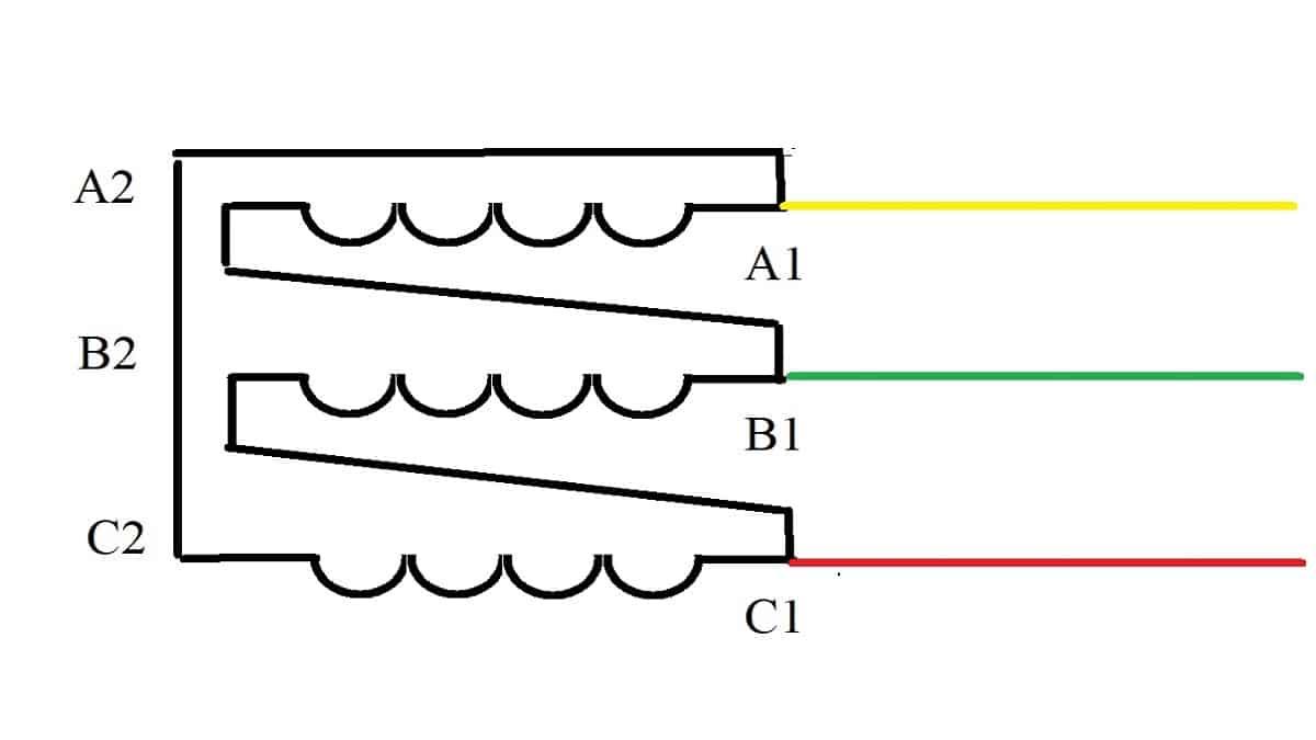 Схема подключения треугольник