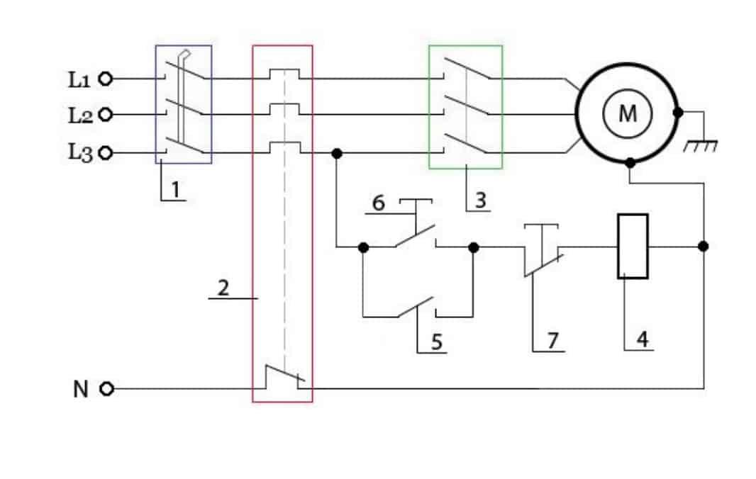 Схема включения в трехфазную сеть