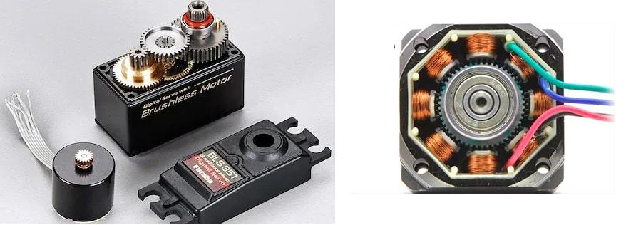 Сравнение с сервопривода с шаговым двигателем