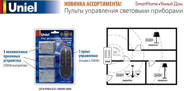трехточечный пульт для системы Умный дом