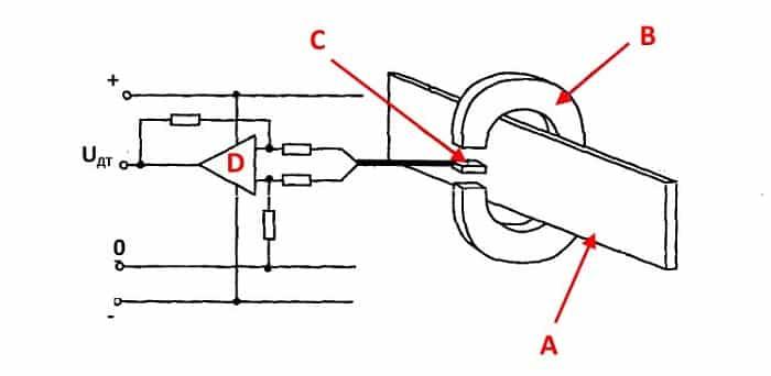 Упрощенная схема датчика тока