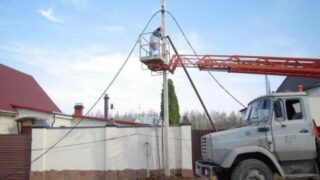 Подключение электричества на даче