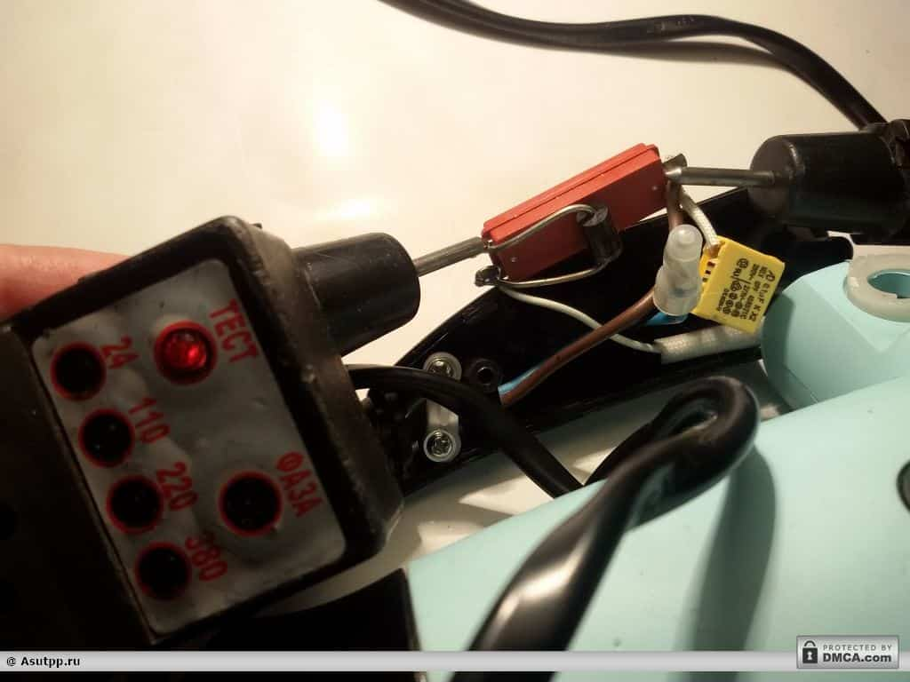 проверка тока через переключатель