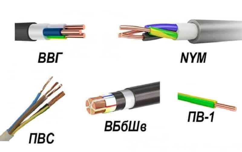 Варианты цветовой маркировки провода заземления