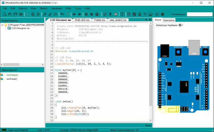 Оболочка для программирования Ардунио