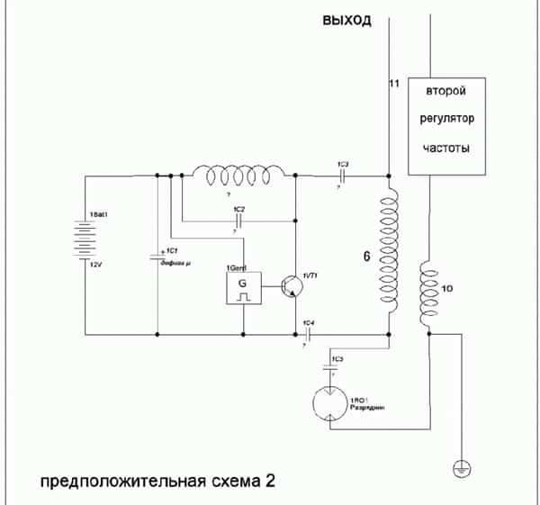 предположительная схема генератора Капанадзе