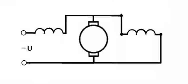 Схема КД со смешанными катушками возбуждения