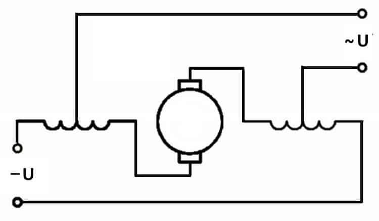 Схема универсального коллекторного двигателя
