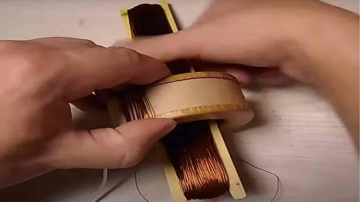 Намотайте обмотку челноком