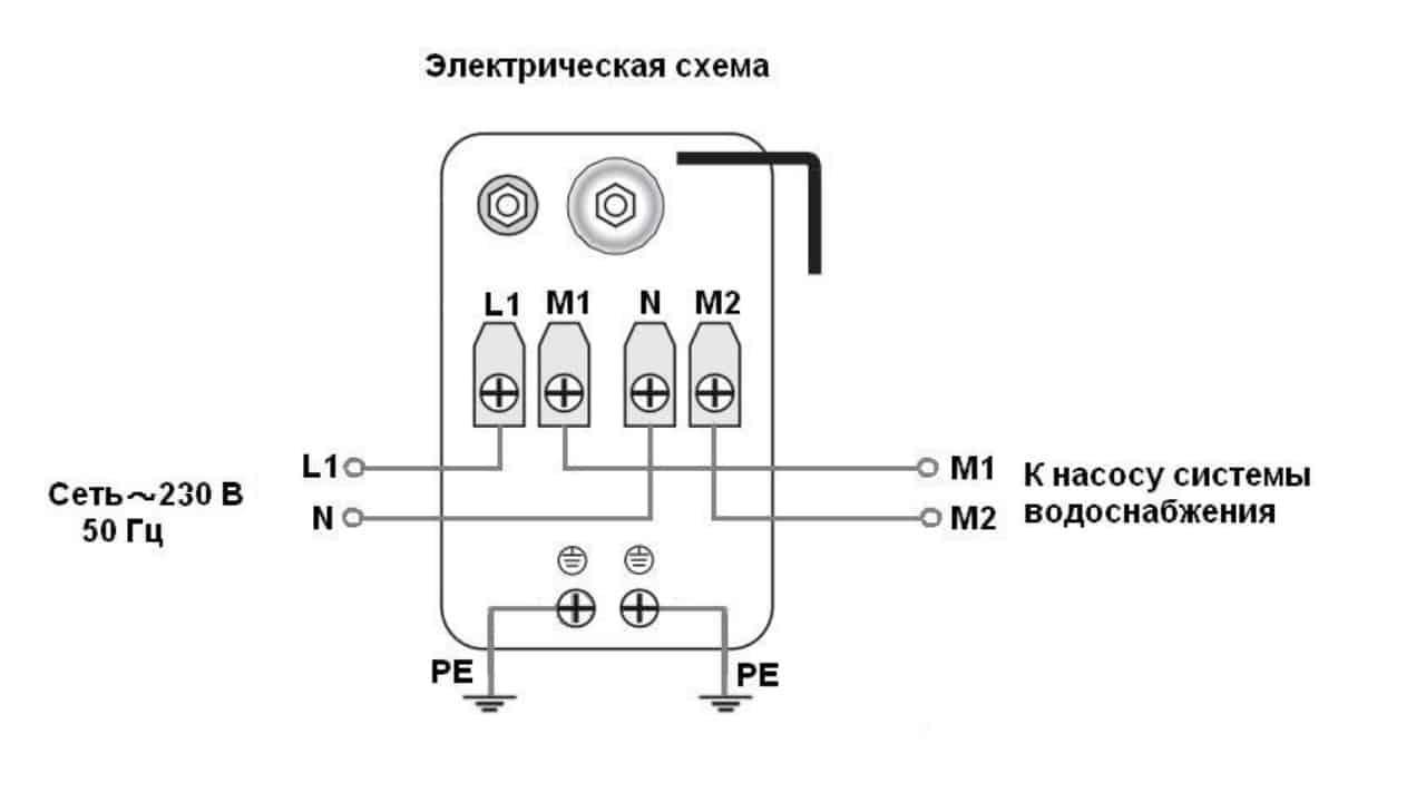 Схема распиновки реле давления для подключения