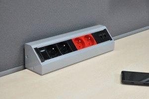 Блок угловых розеток с выключателем