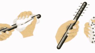 Опыт с эбонитовым стержнем