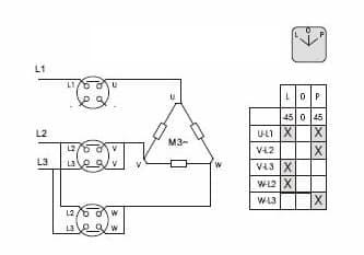 Схема и таблица коммутации переключателя SPAMEL
