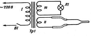 Схема простейшего паяльника