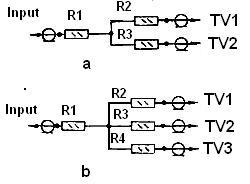 Схема разделителя для двух и трех устройств