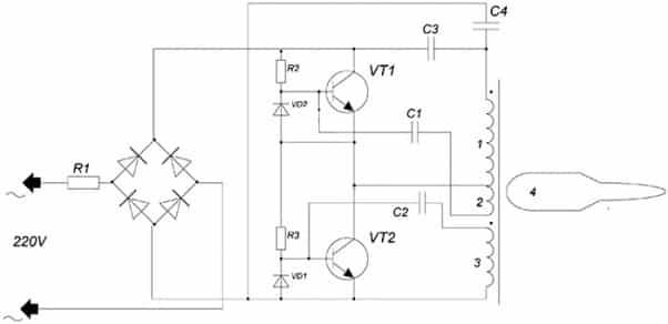 Схема типичного адаптера
