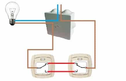 Схематическое изображение установки двойного управления освещением