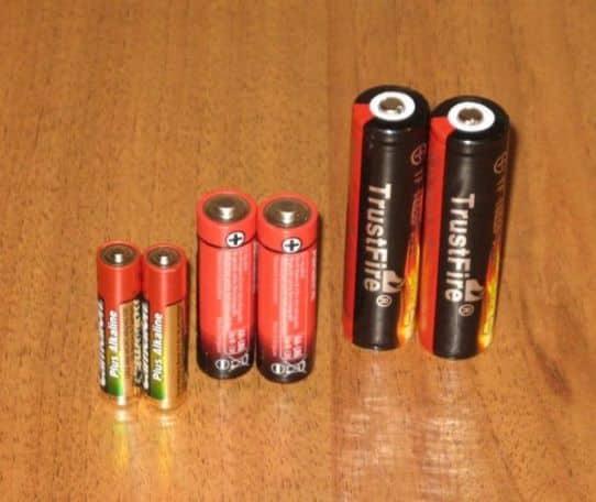 Цилиндрические аккумуляторы литий-ионного типа форм-фактор ААА, АА и 18650