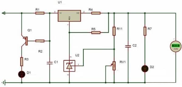Схема зарядки для литий ионных акумуляторов