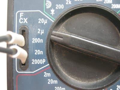 Подключение при измерении емкости