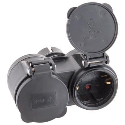 Разветвитель на два устройства для влажных помещений (IP44)