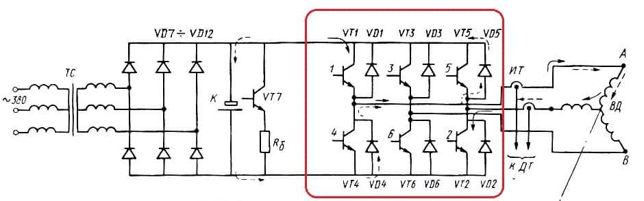 Электронный ключ вентильного двигателя