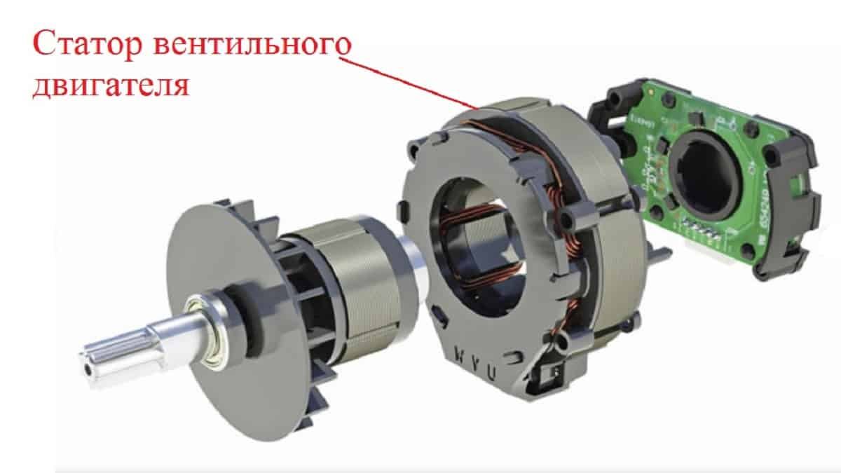 Конструкция статора вентильного двигателя