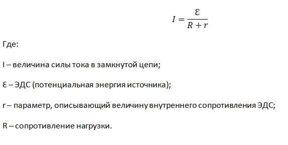 Учитывая «r» ЭДС