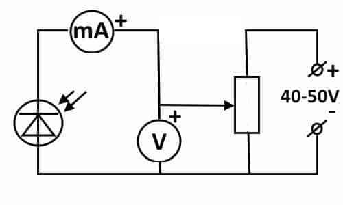Пример схемы для снятия вольтамперных характеристик
