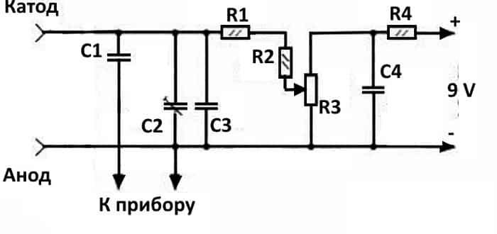 Приставка к мультиметру для измерения емкости варикапа
