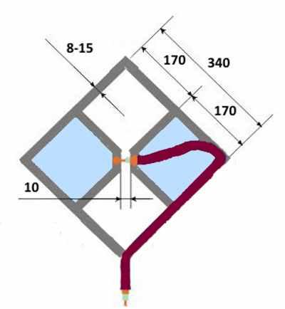 Простая всенаправленная ДМВ антенна для дома или дачи