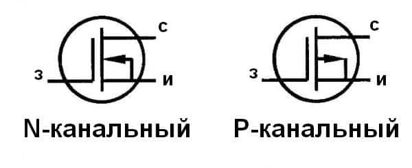 Полевые транзисторы (N- и P-канальный)