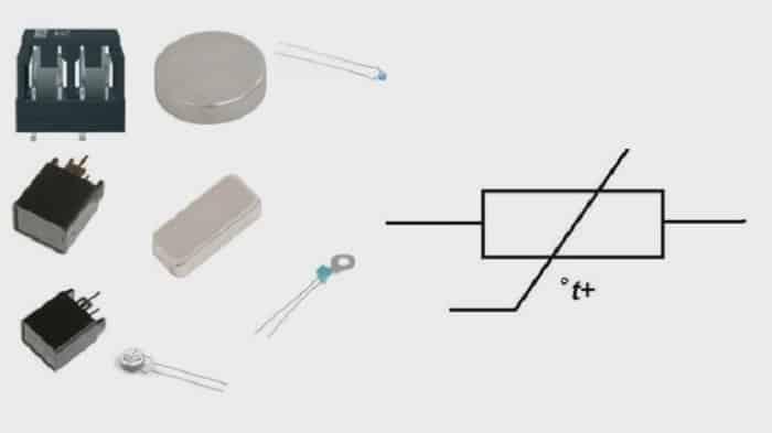 Различные виды позисторов и их графическое изображение в принципиальных схемах