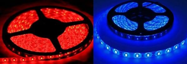 Светодиодные ленты красного и синего спектра