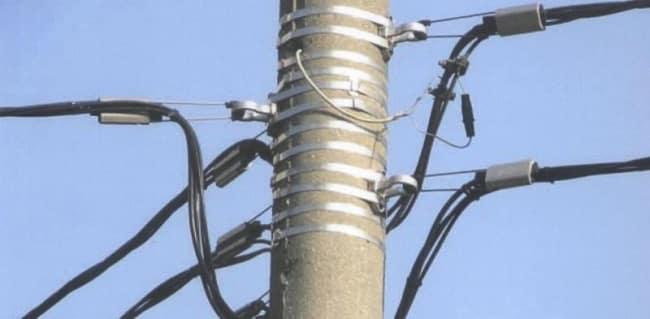 Опора для воздушных линий кабеля АВБбШв