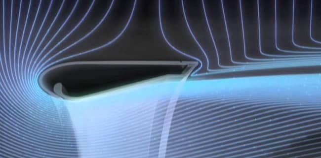 Профиль кольца безлопастного вентилятора