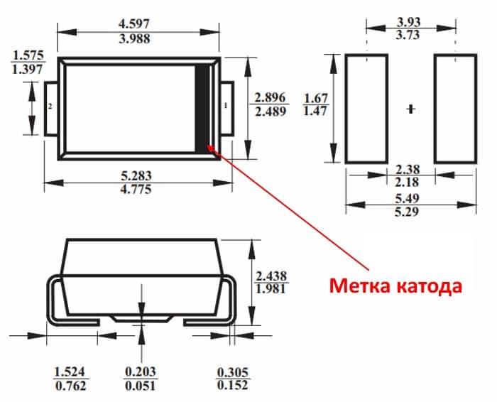 Размеры корпуса D0-214