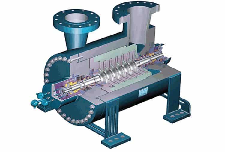 Центробежный компрессор в разрезе