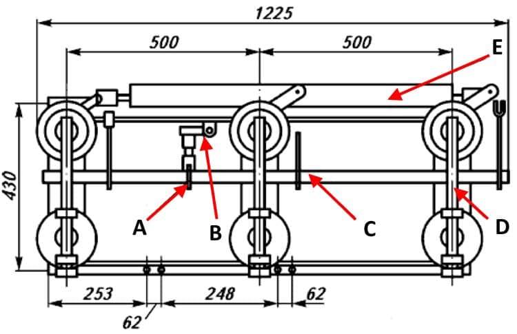 Конструкция разъединителей РЛНД-1-10/200 У1, РЛНД-1-10/400 У1 и РЛНД-1-10/630 У1