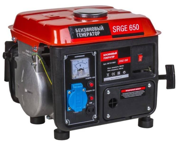 Переносной 2-х тактный мини генератор марки SRGE 650