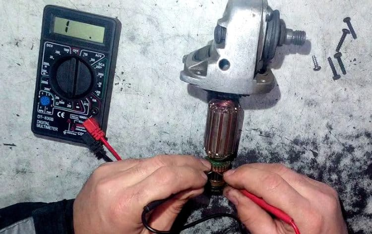 Проверка обмотки якоря коллекторного электродвигателя