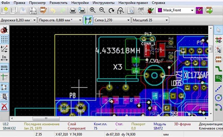 KiCad одна из немногих бесплатных систем сквозного проектирования