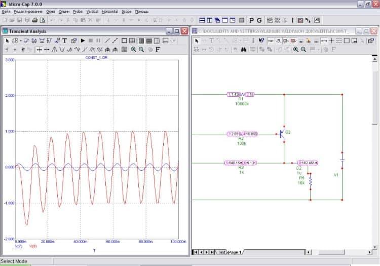 Micro-Cap – одно из лучших приложений для моделирования электросети