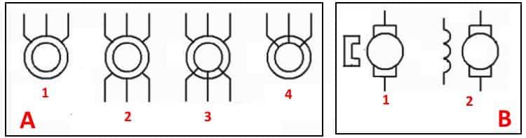 Обозначение электродвигателей и генераторов