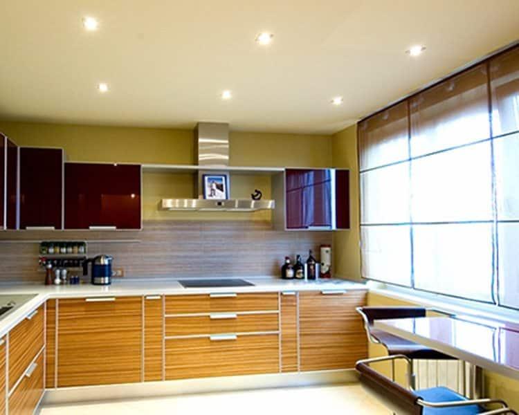 Освещение кухни без подвесной люстры