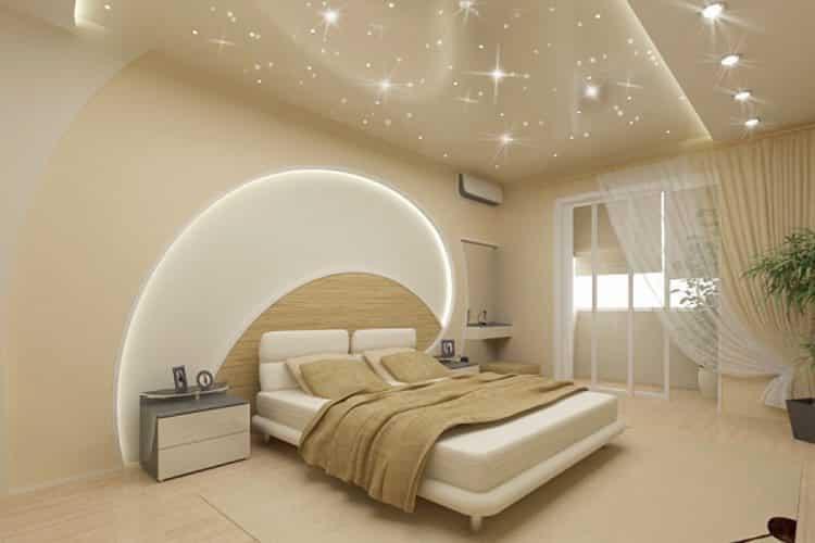 Освещение спальни в футуристическом стиле