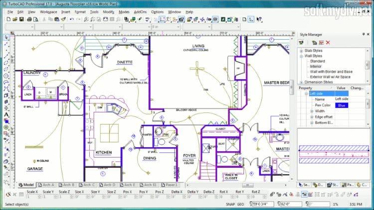 Платформа TurboCAD может использоваться для решения многих задач