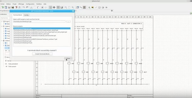 QElectroTech – программа для составления, просмотра и печати электросхем